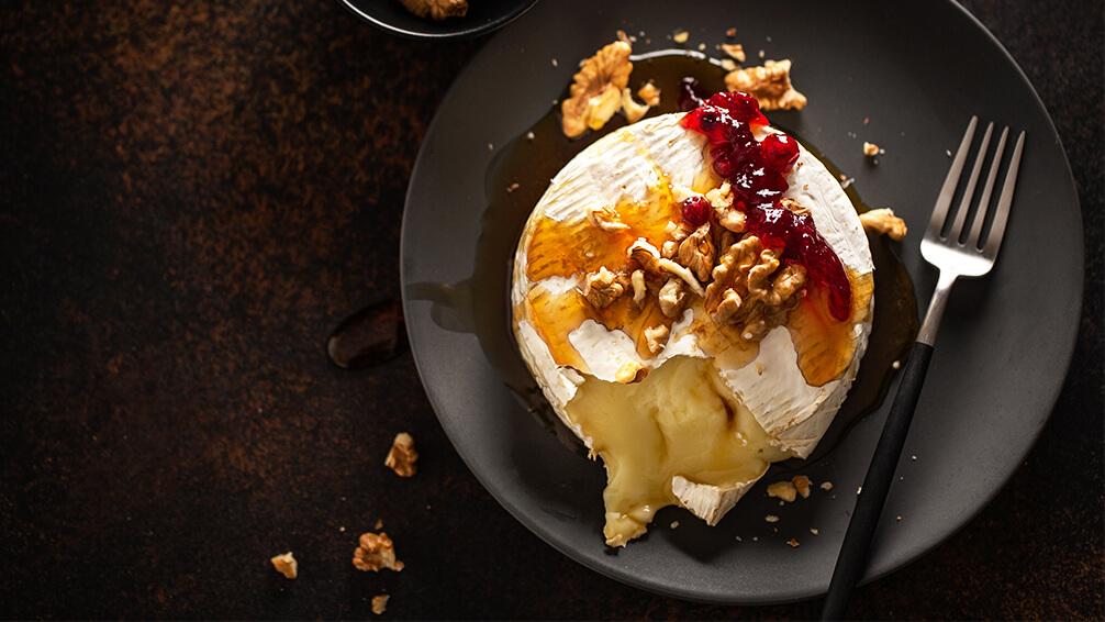 PFAS-holiday-garden-recipes-brie-baked-nuts-pomegranate